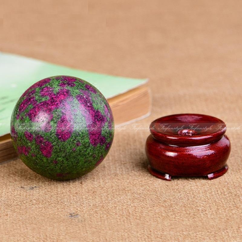 AAA + + Naturel Ruby Vert Zoisite Anyolite Cristal Sphère Balle Chakra Guérison Gemme Feifanstyle naturel pierres et minéraux
