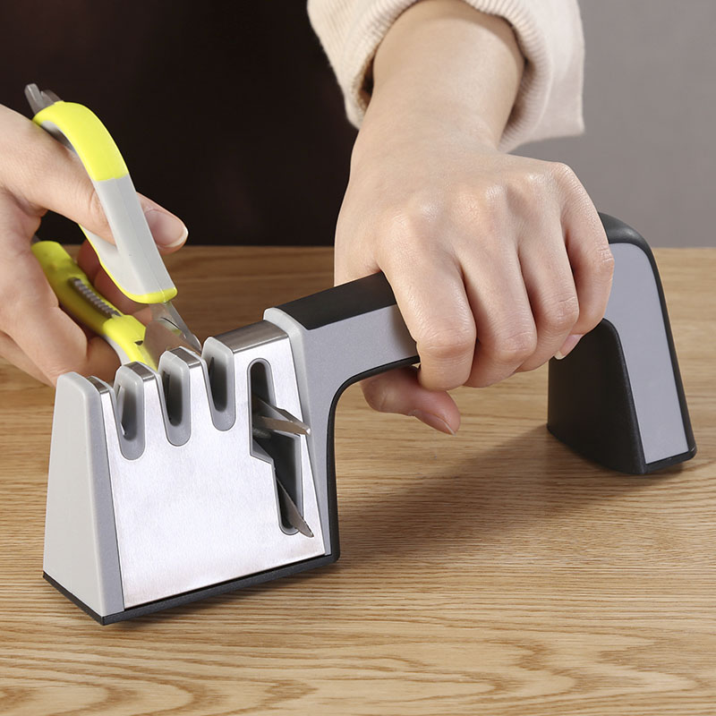Portable Knife Sharpener System Professional 4 Stages Stones for Kitchen Fruit Knife Become Sharper Sharpening Tools Easy To Use