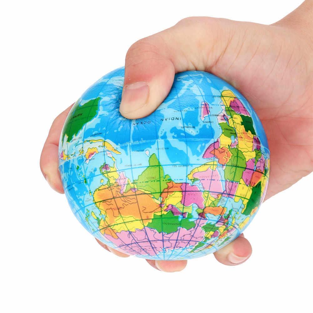 2019 Menghilangkan Stres Peta Dunia Busa Bola Atlas Dunia Palm Bola Planet Bumi Ball Anti-Stress Mainan