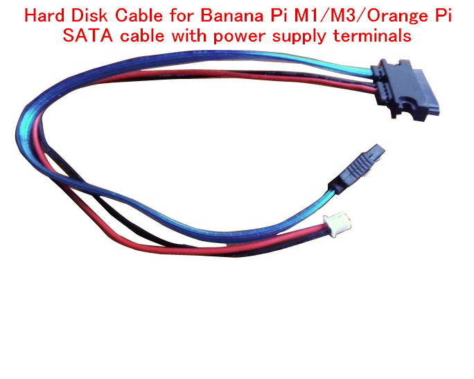 Free Ship Hard Disk Cable For Banana Pi M1/M3/Orange Pi SATA Cable With Power Supply Terminals For Orange Pi Plus 2