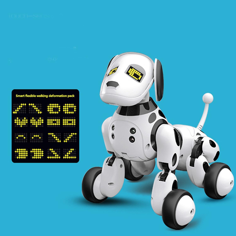 criancas bonito robo inteligente cao de controle 04