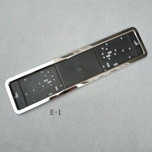 Image 3 - 1pcs Car License Plate Frame metal and Plastic frame Car License Plate Frame Number plate Holder Fit EU
