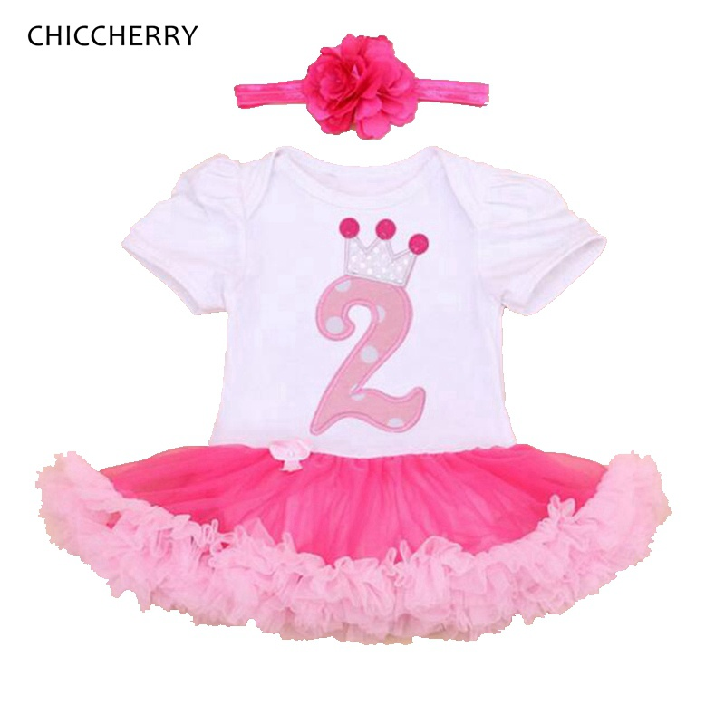 Baby Girl Summer Clothing Sets 2nd Birthday Outfits Lace Rompers Headband Toddler Tutu Set Infant Clothing Girls Clothes 2017 hot toddler girl clothing cake tutu skirt and long sleeved rompers suit high quality newborn baby girl sets birthday baby gift