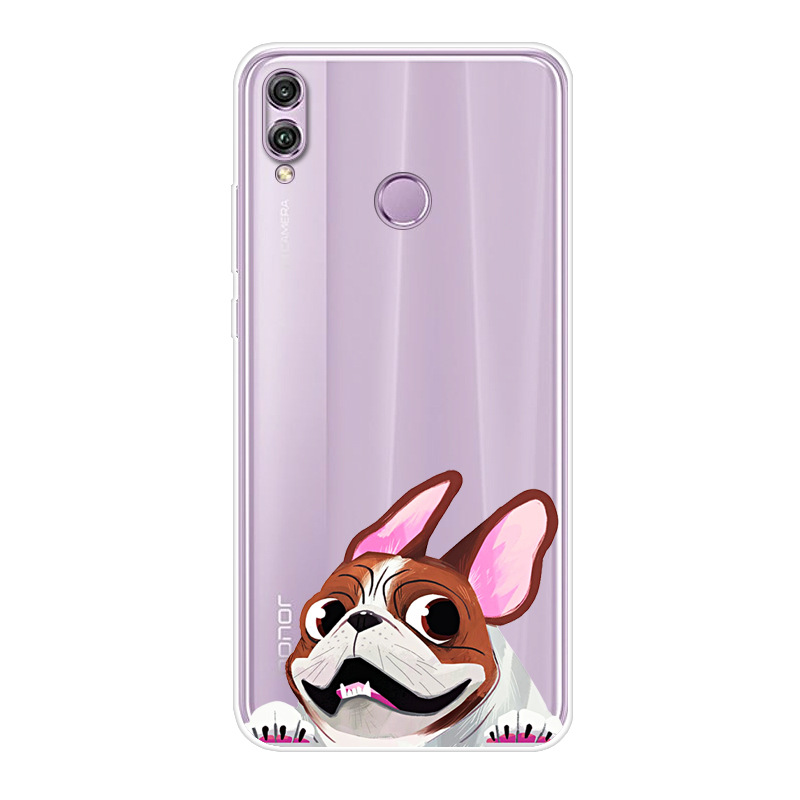 Soft TPU Silicone Case For Funda Huawei Honor 8X Case Crystal Print Phone  Back Cover For Huawei Honor8X 8 X Coque Honor X8 Case
