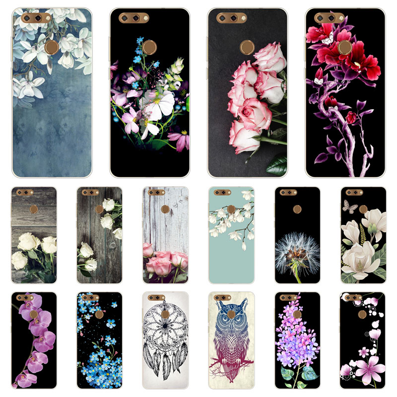 zte blade v9 Case,Silicon Popular flowers Painting Soft TPU Back Cover for zte blade v9 5.7