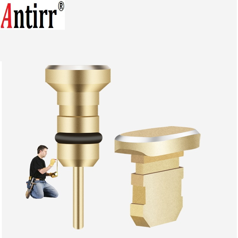 Fashion Metal Dust Plug Phone 2 in 1 For iphone Samsung Mobile phone Micro USB 3.5mm Sim Card Tray Eject Pin Tool Accessor