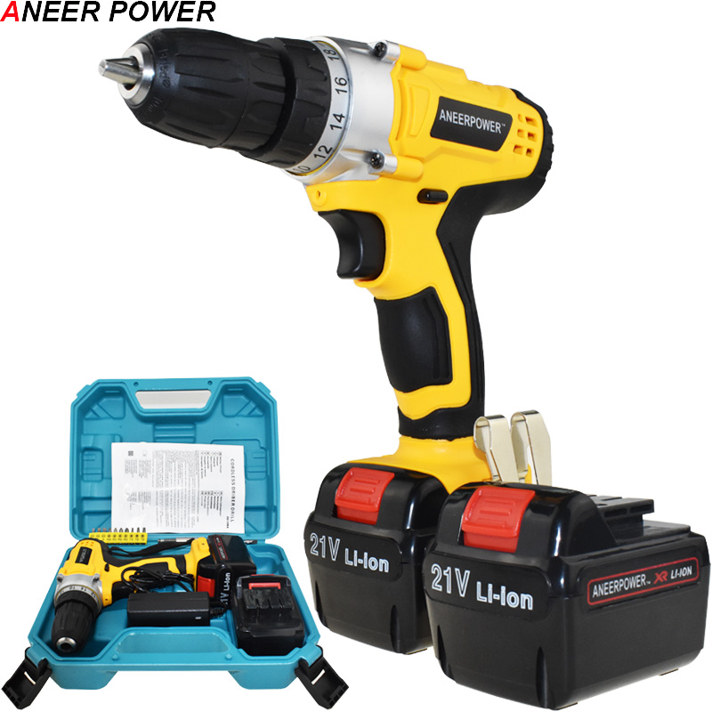 21v Multifuctiona Electric Screwdriver Batteries Screwdriver Mini 1 5Ah Battery Capacity Drill Power Tools Drill Cordless