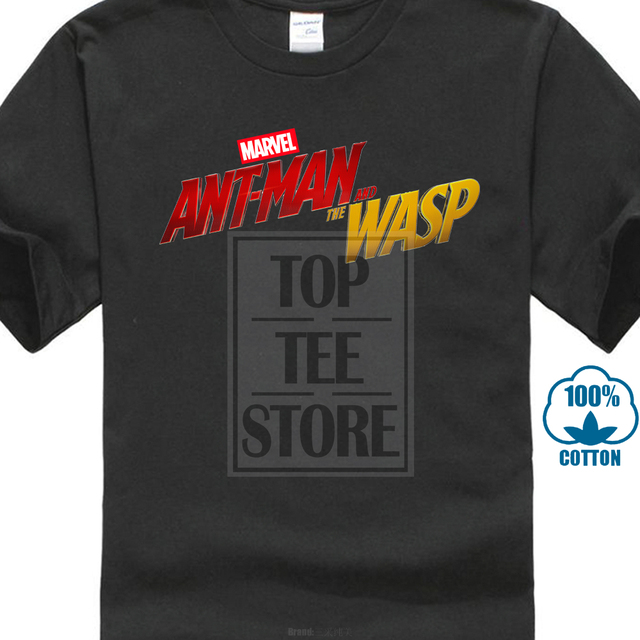 d134f1375 Title Tshirt Marvel Movie Text Men'S Fashion Cool T Shirt Ant Man And The  The Wasp Funny T-Shirts For Guys 80S Style Cotton Tee
