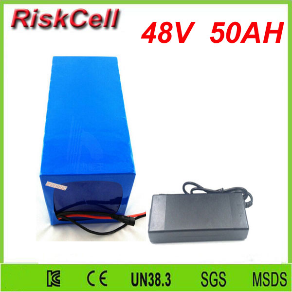 Free   customs taxes  deep cycle lithium ion battery 48v 50ah for solar storage with 50A discharge rate BMS and charger