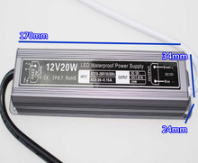 Hot sale 1 piece 12V waterproof led driver IP67 20W adapter light transformer 1.67A power charger for leds