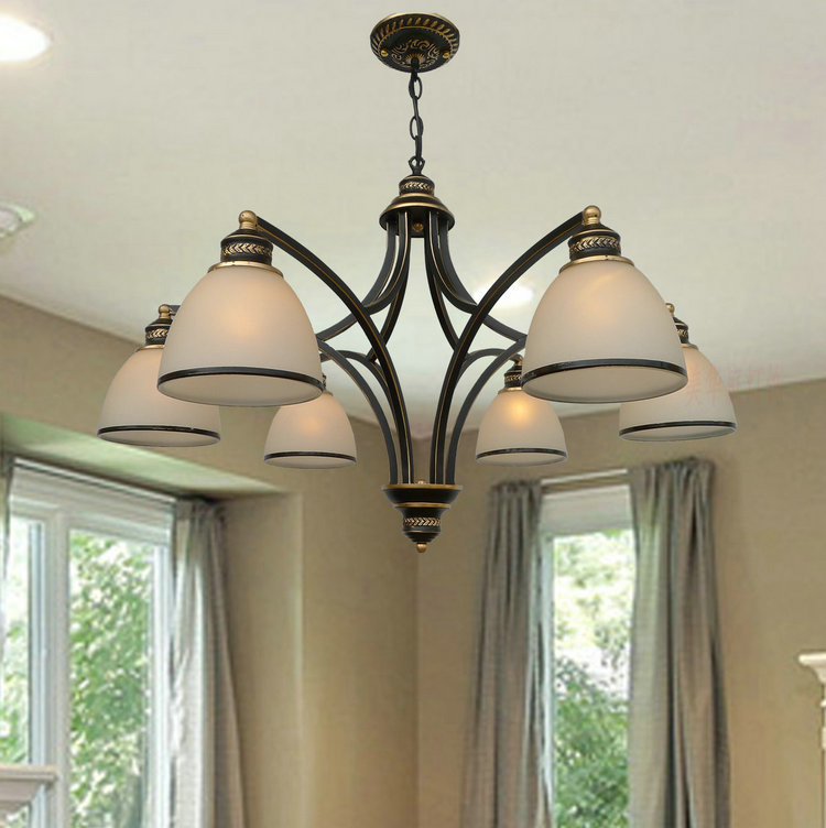 modern retro American Multiple Chandelier dining room bedroom lamp iron simple Pastoral lighting купить