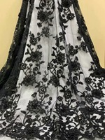 african lace fabric french lace fabric nigerian lace fabrics 2019 high quality lace with sequins and beads 5yards/piece