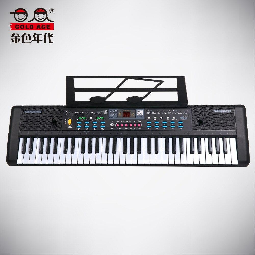 61 touches Orgue Électrique Musique Clavier Piano Avec Microphone Enfants Instrument de musique