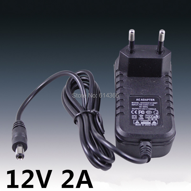 50PCS 24W 2A 12V power supply 12V LED lamp power supply 12 v power supply 12v2a power adapter 12v 2a router US EU UK AU plug 1pc coax female socket to f type male plug adapter connector converter durable zinc alloy for satellite tv dvr