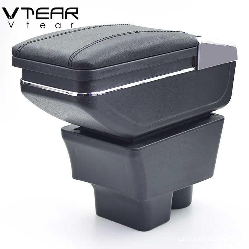 Vtear For Skoda Rapid armrest box central Store content box storage interior car styling decoration accessories