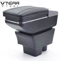 Vtear For Skoda Rapid armrest box central Store content box storage interior car styling decoration accessories parts 2013 2018