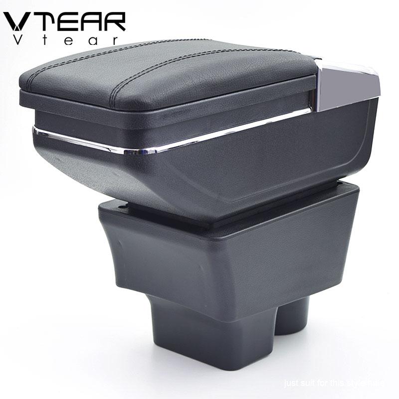 Vtear Pour Skoda Rapide boîte accoudoir central Magasin contenu boîte de rangement intérieur de voiture-styling décoration accessoires pièces 2013- 2018