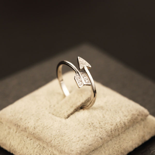 Real 925 Sterling Silver Engagement Rings For Women Arrow