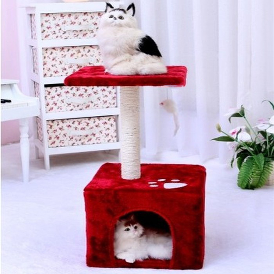 Sisal Cat Toys Nest Bed Climbing Frame Scratch Tree Stand Ladder Pet House Luxury Furniture Games Pets Supplies 70Z1561