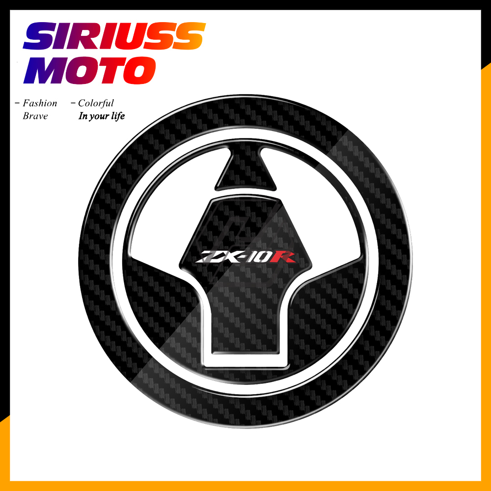3D Carbon-look Motorcycle Fuel Gas Cap Protector Decals Case For Kawasaki Ninja ZX-10R ZX10R 2006-2015
