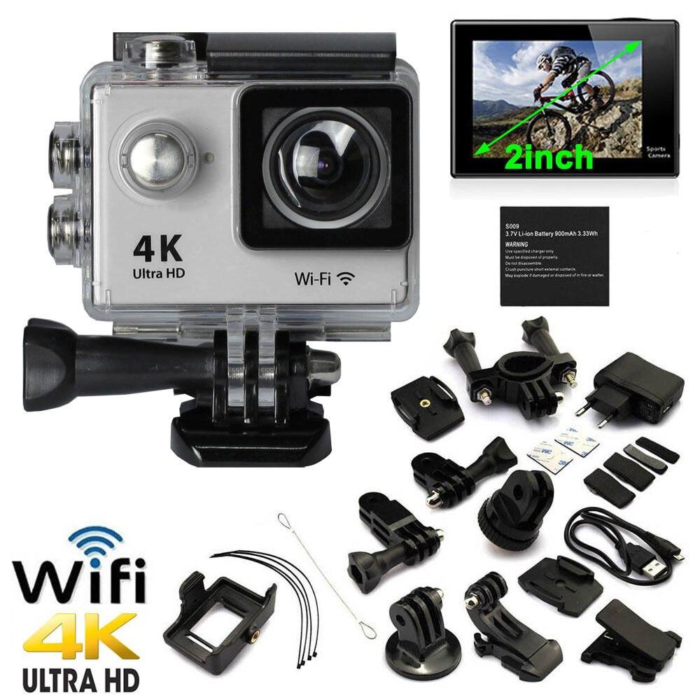 4 K HD 1080 P Action Sport Mini caméra étanche caméra Wifi caméscope casque Go pro style pour Xiao Mi Yi caméscope résistant à l'eau