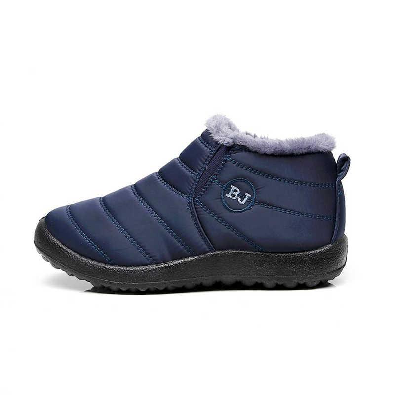 2019 nouvelles bottes femmes hiver neige bottes bottes d'hiver femmes femmes chaussures chaud en peluche antidérapant fond thermique étanche unisexe