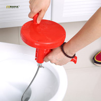 1PC Kitchen Toilet Sewer Blockage Hand Tool Pipe Dredger 5 Meters Drains Dredge Pipes Sewer Sink