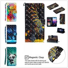 Leather flip wallet phone case for Huawei P20 Pro P20 lite magnetic wallet cover for Huawa p20 tiger protective cover coque etui for huawei p20 lite leather case for p20 pro cover wallet zipper protector etui coque for huawei p20 p20pro case fundas bag