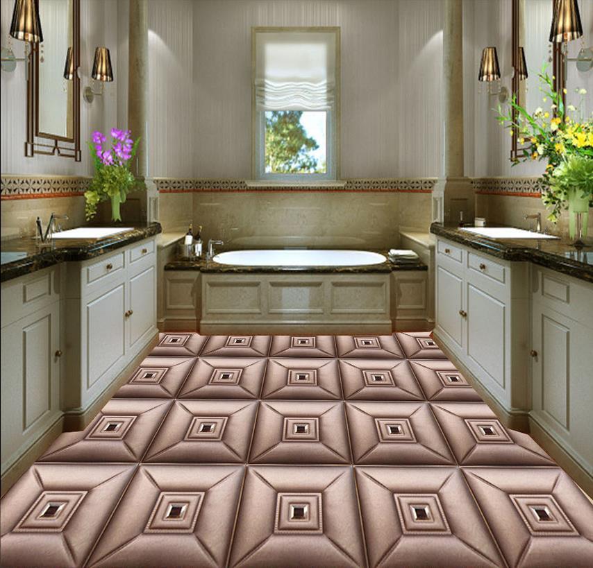 3d flooring 3d checkered parquet floor 3d bathroom - Waterproof floor paint for bathrooms ...