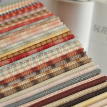20x20 DIY Japan Little Cloth group Yarn-dyed fabric,for sewing Handmade Patchwork Quilting,Grid stripe dot Random 10 Style/lot