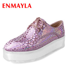 ENMAYLA Flat Platform New Pink Shoe in Womens Round Toe Size 39 Causal Shoes Spring&Autumn Flats Golden