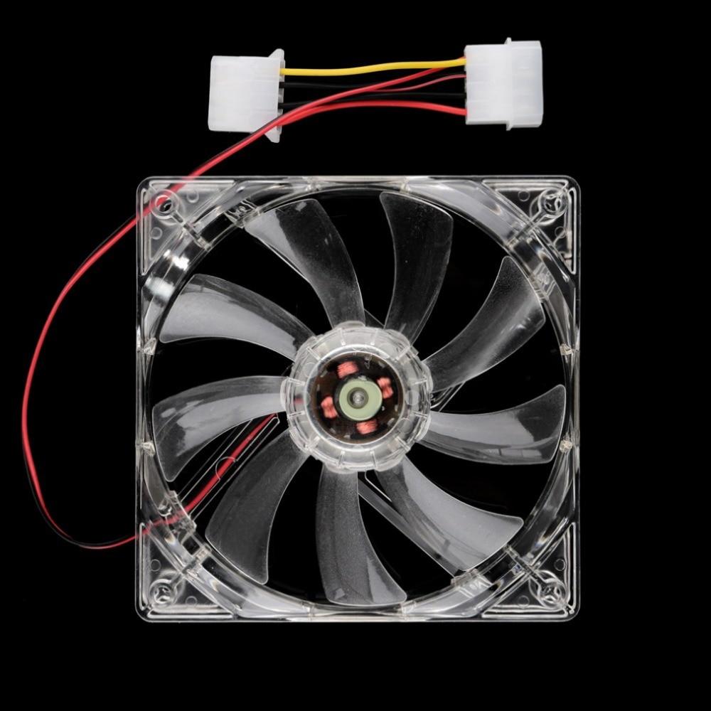 Cool 12V PC Computer Fan Quad 4 LED Light 120mm PC Computer Case Cooling Fan Mod Quiet Molex Connector Easy Installed Fan