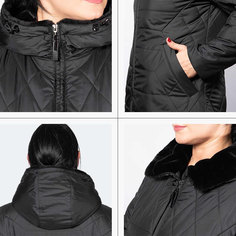 Nieuwe winter jassen jas vrouwen herfst lange parka warm hooded hoge kwaliteit comfortabele lange jassen vrouwen plus maten astrid AM -5037