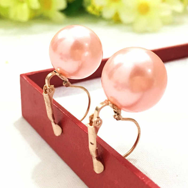 New arrives1Pair Fashion Jewelry Women Lady Elegant Simulation Pearl Beads Ear Stud Earrings For Women 4ED157 Gold out of stock