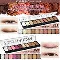 2017 hot venta de maquillaje de ojos paleta de sombra de moda maquillaje de luz natural 10 Colores de Sombra de Ojos Shimmer Mate Sombra de Ojos Cosméticos Conjunto Con B