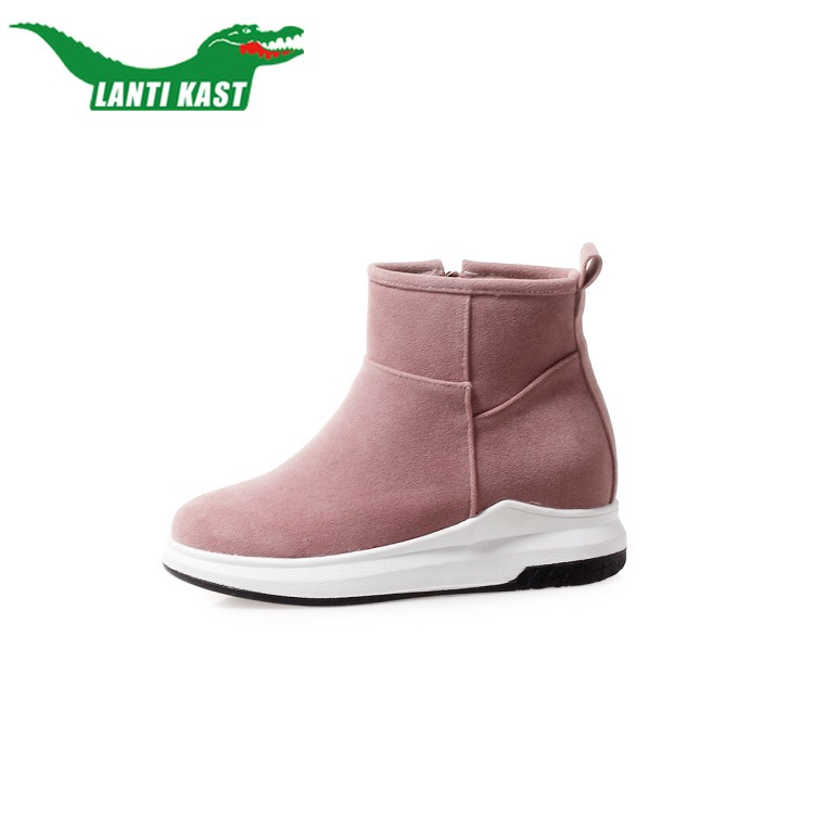 8bca2ed33fa Women Plush Boot Shoes High Top New Winter Fashion Sneakers Tenis Feminino  Trend Casual Lady Shoes Woman School Shoes for Girl