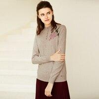 Женский пуловер с длинным рукавом, кашемировый свитер