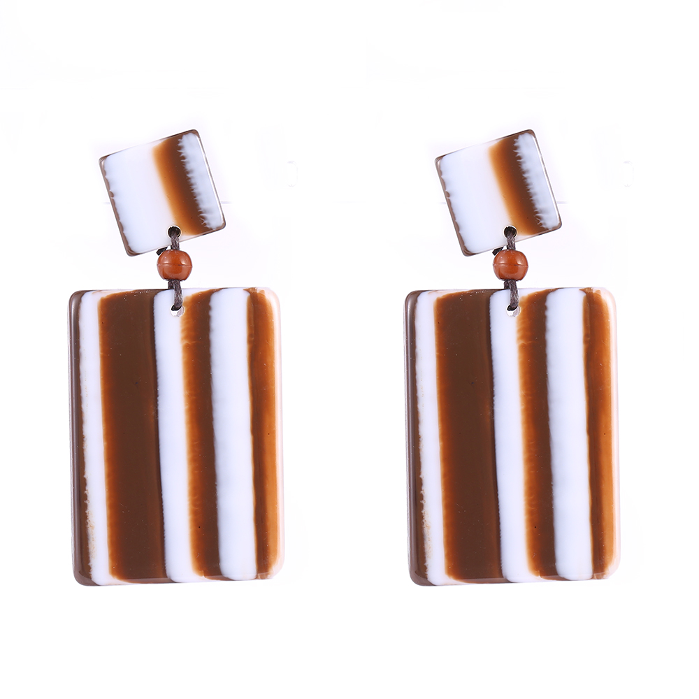 Woman Earrings Fashion Jewelry Boutique Square Resin Earings Brinco Bijoux Online  Shopping 6 Colors(china