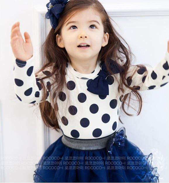 Kids Clothes 2 PCS Set T Shirt And Tutu Skirt For Girls 2015 New Dresses
