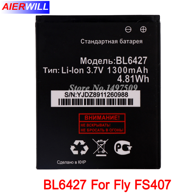 BL6427 Batterie Für Fly FS407 STRATUS 6 Akkumulator 1300 mAh Hohe Qualität