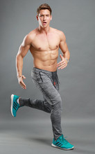 Men Running Gym Pants Jogging Training Sports Sportswear Elastic Fitness