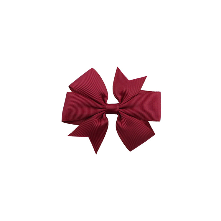 40 цветов сплошная корсажная лента банты заколки шпилька девушка бант для волос, бутик заколки для волос аксессуары для волос - Color: a31 Burgundy