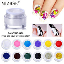 MIZHSE pintura Gel encantador colores puros UV LED pintura Color de uñas de Gel para decoración de uñas diseño esmalte de Gel de uñas laca Color 12(China)