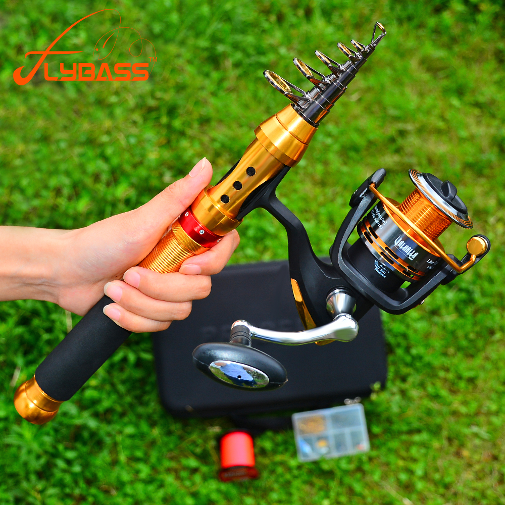 9/11 Section 2019 Flybass 1.8M-2.7M 1PC High Carbon Telescopic Fishing Rod Metal Handle Sea Fishing Rod With Bag Set(China)
