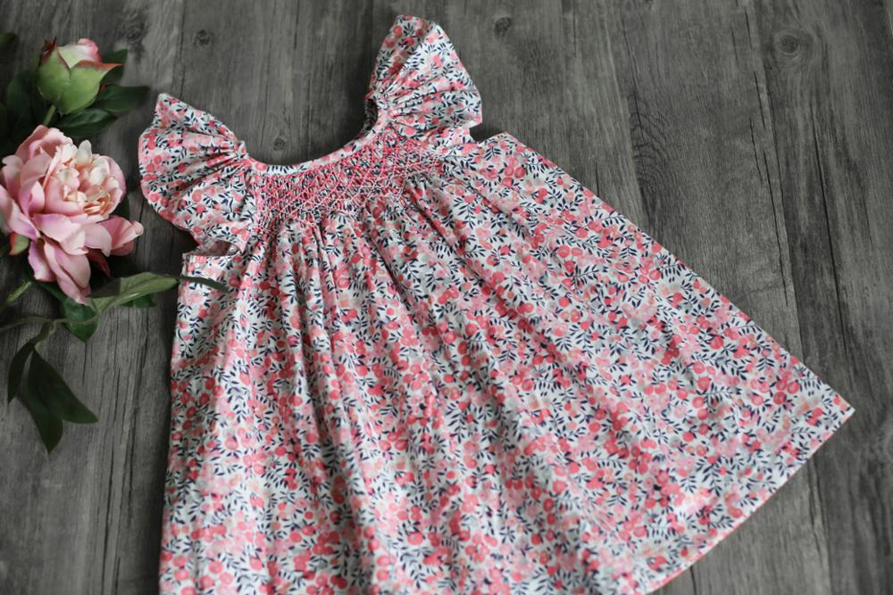 2019 New Sweet Summer Baby Dresses Embroidered Floral Cotton Dress