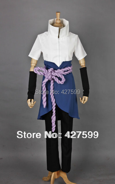 Us 6995 Naruto Shippuden Sasuke Uchiha Cosplay Costume Halloween Costumes With Free Shipping In Anime Costumes From Novelty Special Use On