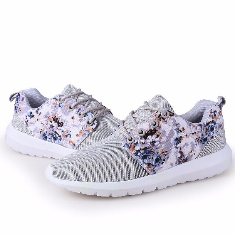 KUYUPP Fashion Breathable Print Flower Women Trainers Casual Shoes 2016 Summer Mesh Low Top Shoes Zapatillas Deportivas YD95 (52)