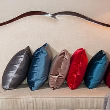 ФОТО fashion 10 color solid pillowcase simple plain decorative cushion cover home decoration products sofa car chair pillow case