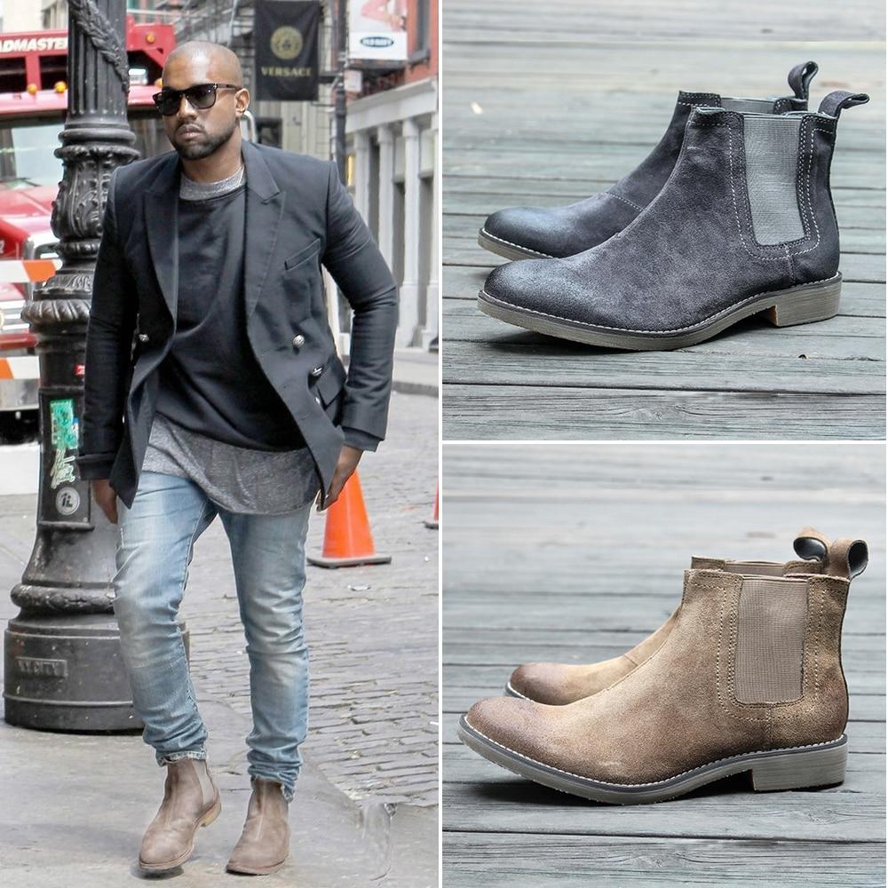 2018 Nouvelle Arrivée Mens Tous mtach Kanye West Crêpe Bottes Randonnée Sneaker Chaussures Bottines En Daim