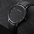 GEEKTHINK 2017 New ultra slim Top brand Quartz-Watch Gentalman Minimalist trend leather Strap Wristwatch Simple Classic design